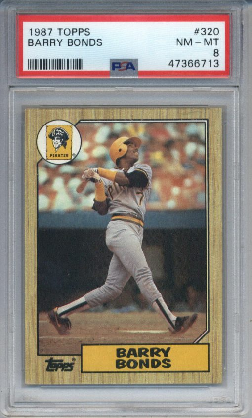 1987 Topps Barry Bonds #320 PSA 8