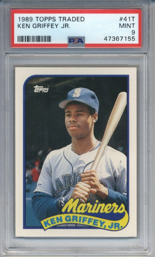 1989 Topps Traded Ken Griffey Jr. #41T PSA 9