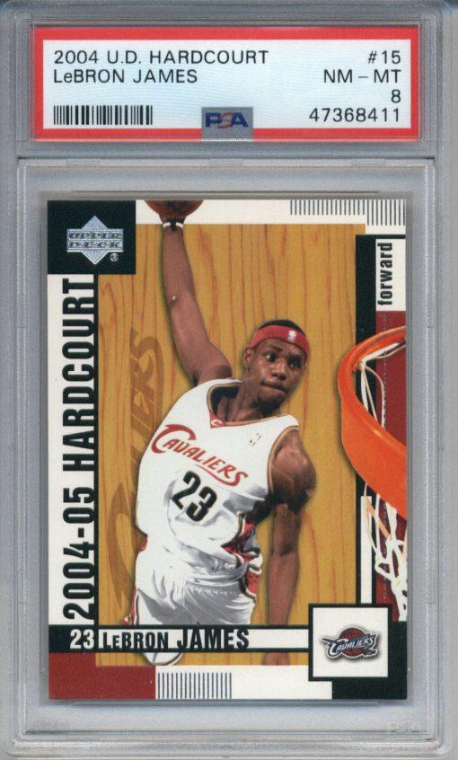 2004-05 Upper Deck Hardcourt LeBron James #15 PSA 8