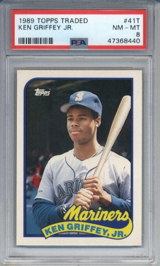 1989 Topps Traded Ken Griffey Jr. #41T PSA 8