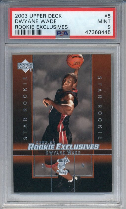 2003-04 Upper Deck Rookie Exclusives Dwayne Wade PSA 9