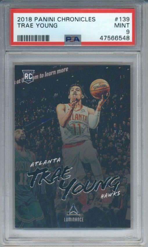 2018-19 Panini Chronicles Trae Young #139 PSA 9
