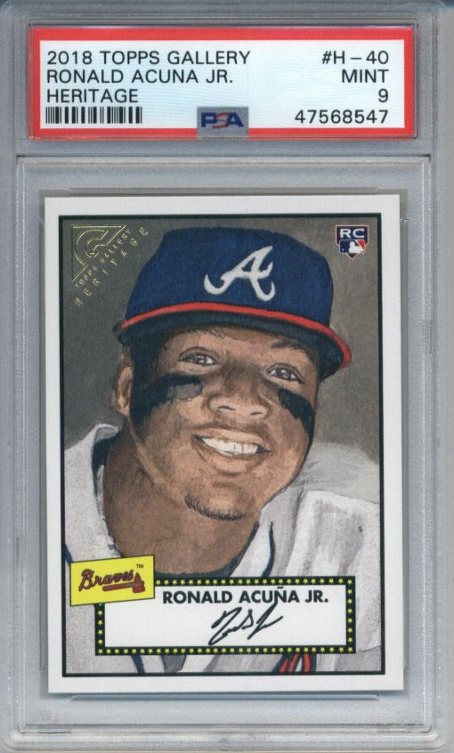 2018 Topps Gallery Heritage Ronald Acuna Jr. #H-40 PSA 9
