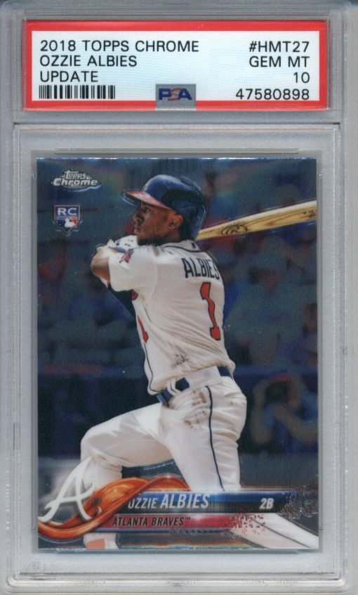 2018 Topps Chrome Update Ozzie Albies #HMT27 PSA 10