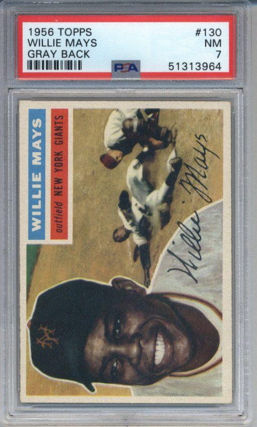 1956 Topps Gray Back Willie Mays #130 PSA 7