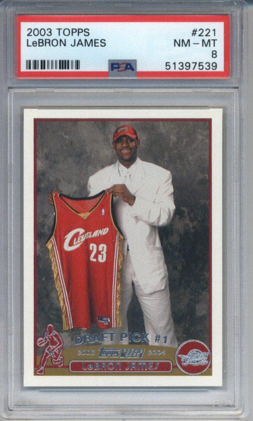 2003-04 Topps LeBron James #221 PSA 8