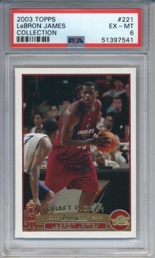 2003-04 Topps Collection LeBron James #221 PSA 6