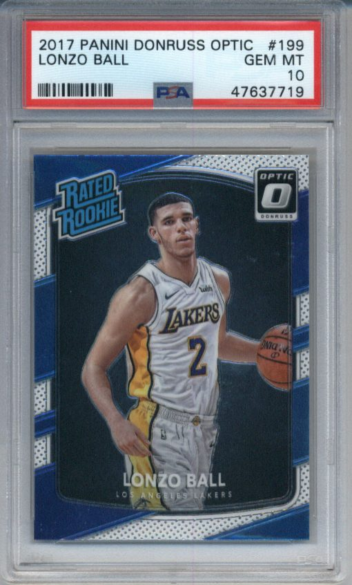 2017-18 Donruss Optic #199 Lonzo Ball PSA 10