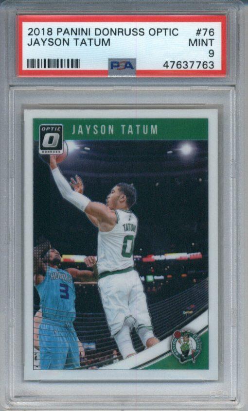 2018-19 Donruss Optic #76 Jayson Tatum PSA 9
