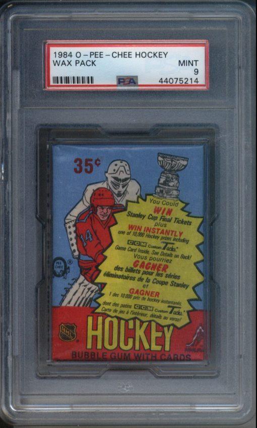 1984 O-Pee-Chee Hockey Wax Pack PSA 9