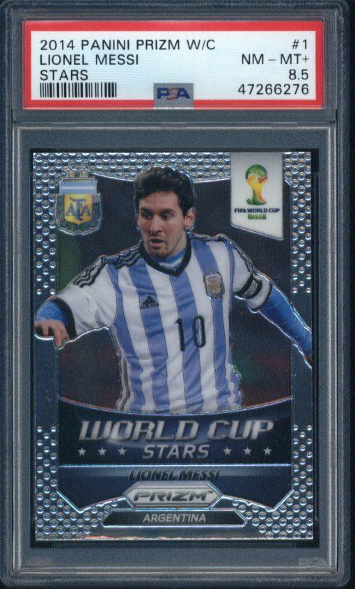 2014 Panini Prizm World Cup Stars #1 Lionel Messi PSA 8.5