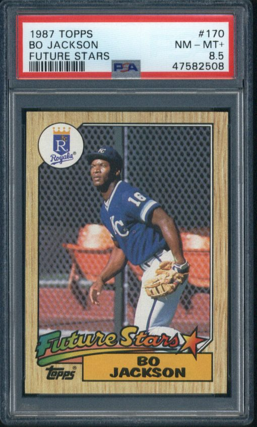1987 Topps Future Stars #170 Bo Jackson PSA 8.5