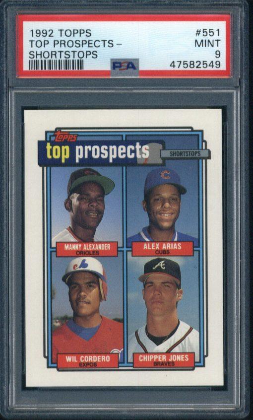 1992 Topps Top Prospects Shortstops #551 PSA 9