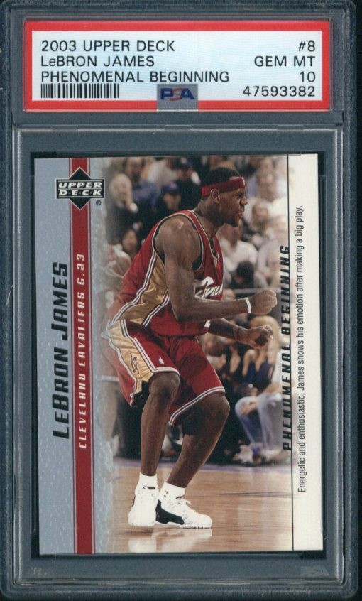 2003 Upper Deck Phenomenal Beginning #8 LeBron James PSA 10