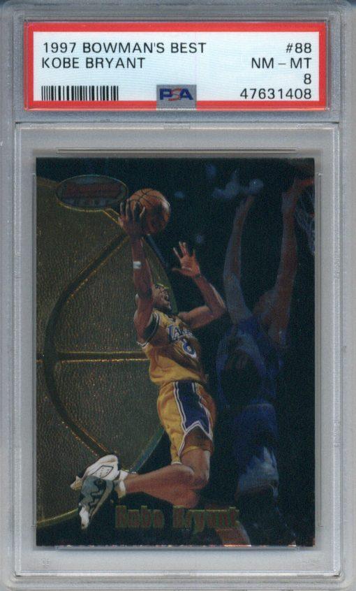 1997-98 Bowman's Best #88 Kobe Bryant PSA 8