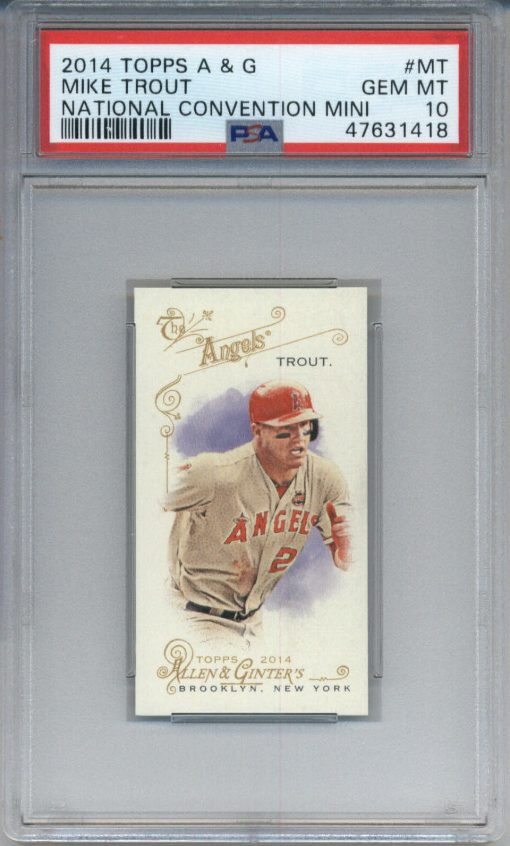 2014 Topps Allen & Ginter National Convention Mini #MT Mike Trout PSA 10