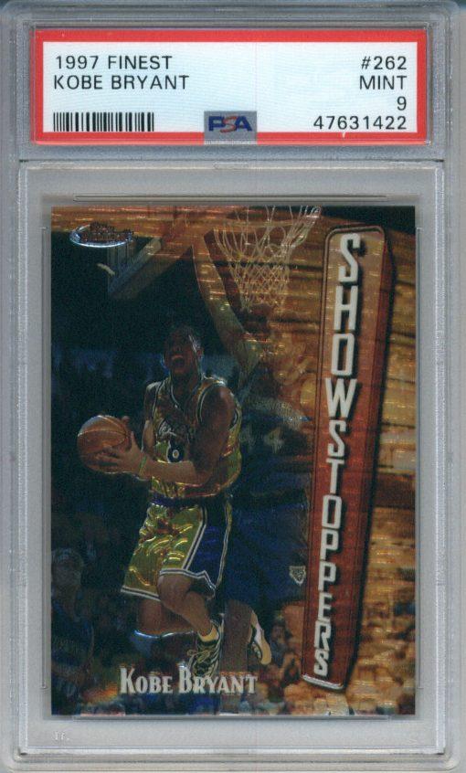 1997-98 Topps Finest Showstoppers #262 Kobe Bryant PSA 9