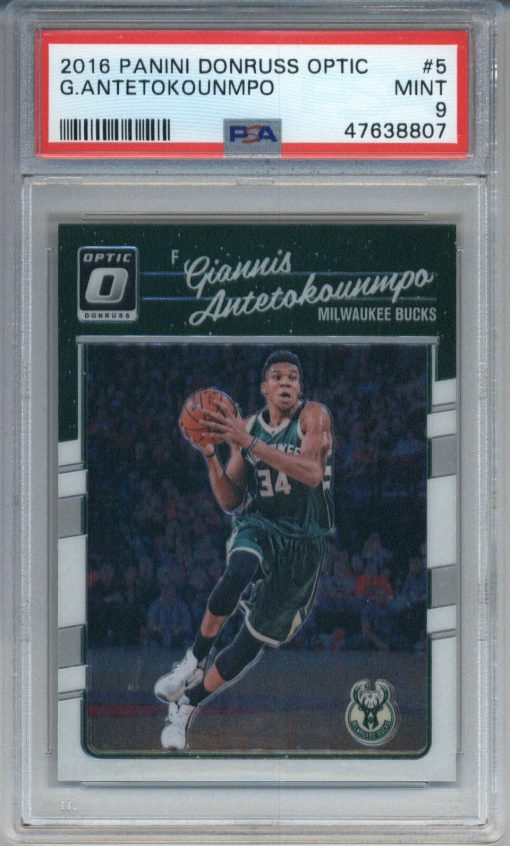 2016-17 Donruss Optic #5 Giannis Antetokounmpo PSA 9
