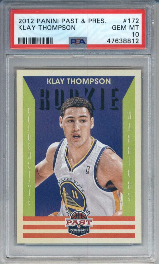 2012-13 Panini Past & Present #172 Klay Thompson RC PSA 10