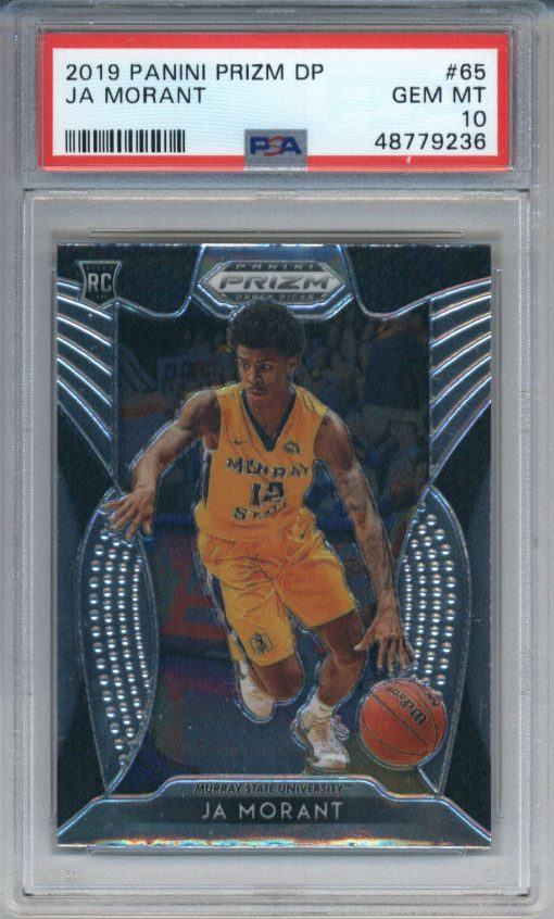 2019-20 Panini Prizm Draft Picks #65 Ja Morant RC PSA 10