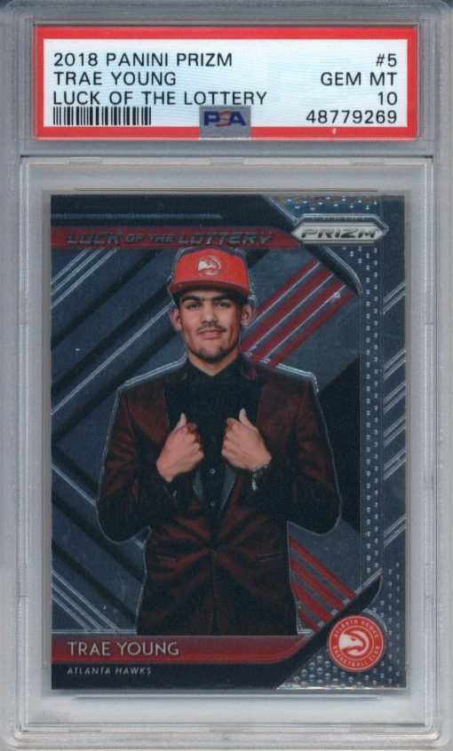 2018-19 Panini Prizm Luck of the Lottery #5 Trae Young PSA 10