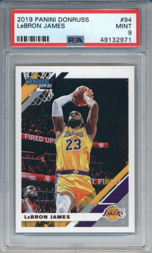 2019-20 Donruss #94 LeBron James PSA 9