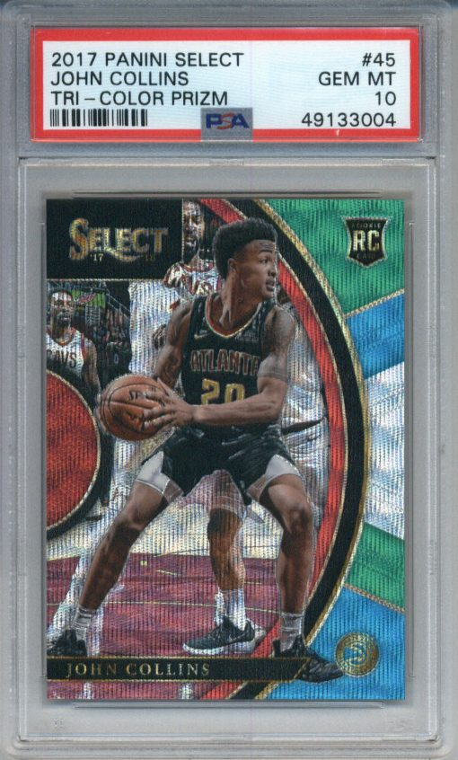 2017-18 Panini Select Tri-Color Prizm #45 John Collins RC PSA 10
