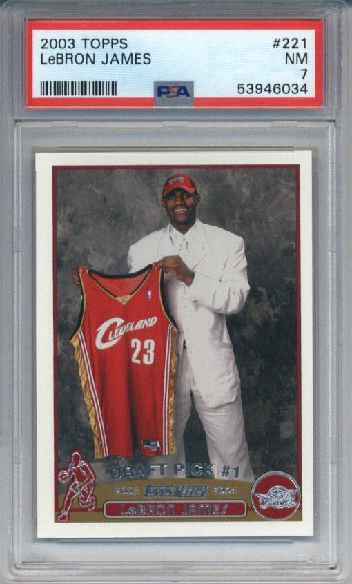 2003-04 Topps LeBron James #221 RC PSA 7