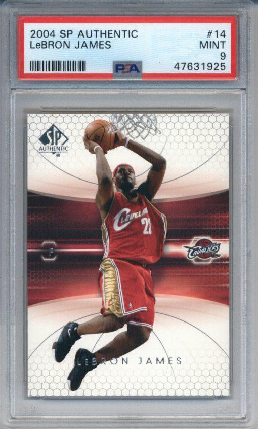 2004-05 SP Authentic #14 LeBron James PSA 9