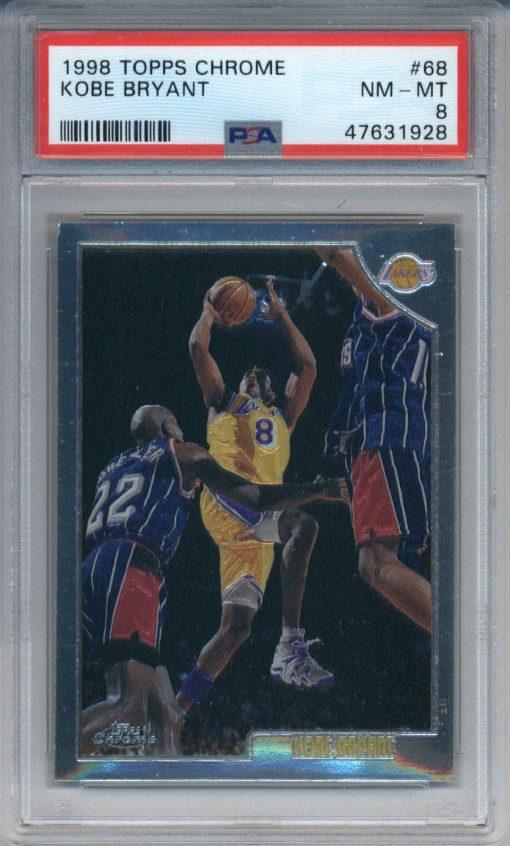 1998-99 Topps Chrome #68 Kobe Bryant PSA 8