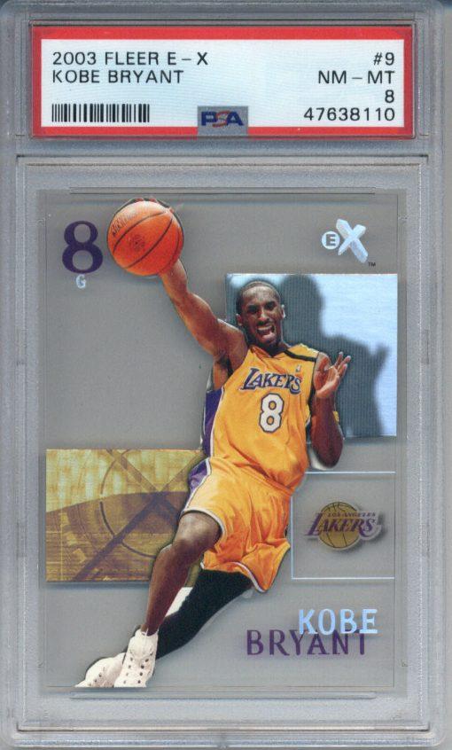 2003-04 Fleer E-X #9 Kobe Bryant PSA 8