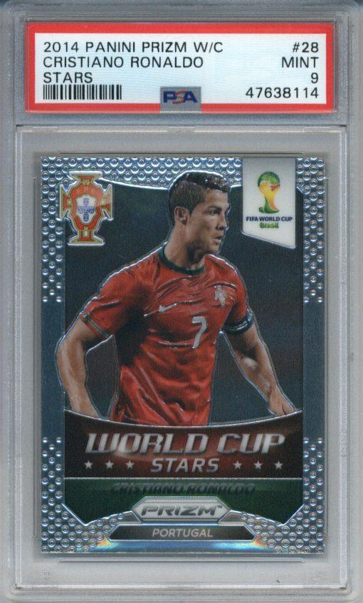 2014 Panini Prizm World Cup Stars #28 Cristiano Ronaldo PSA 9