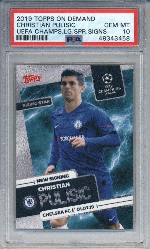 2019 Topps On Demand UEFA Champs League Spr Signs Christian Pulisic PSA 10
