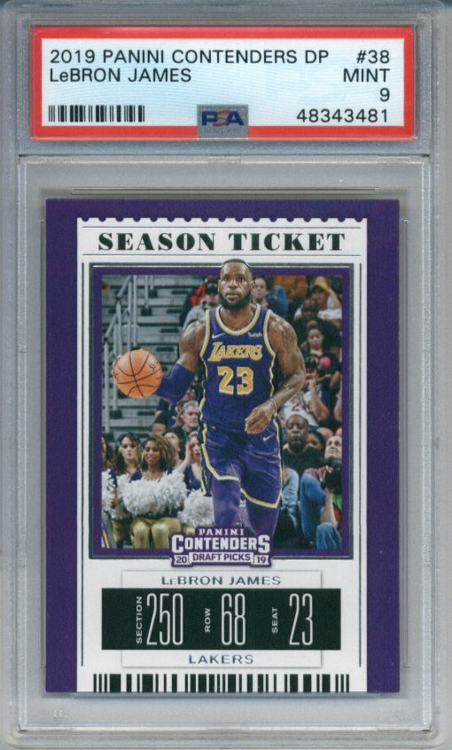 2019 Panini Contenders Draft Picks #38 LeBron James PSA 9