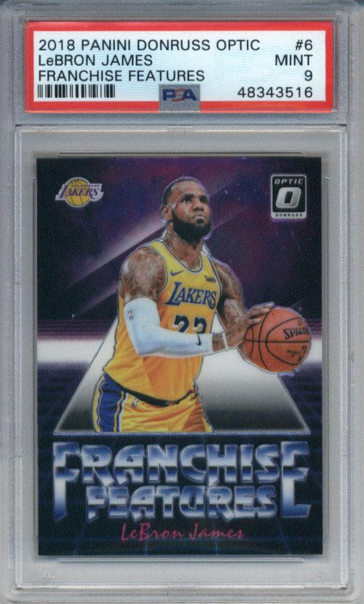 2018 Donruss Optic Franchise Features #6 LeBron James PSA 9