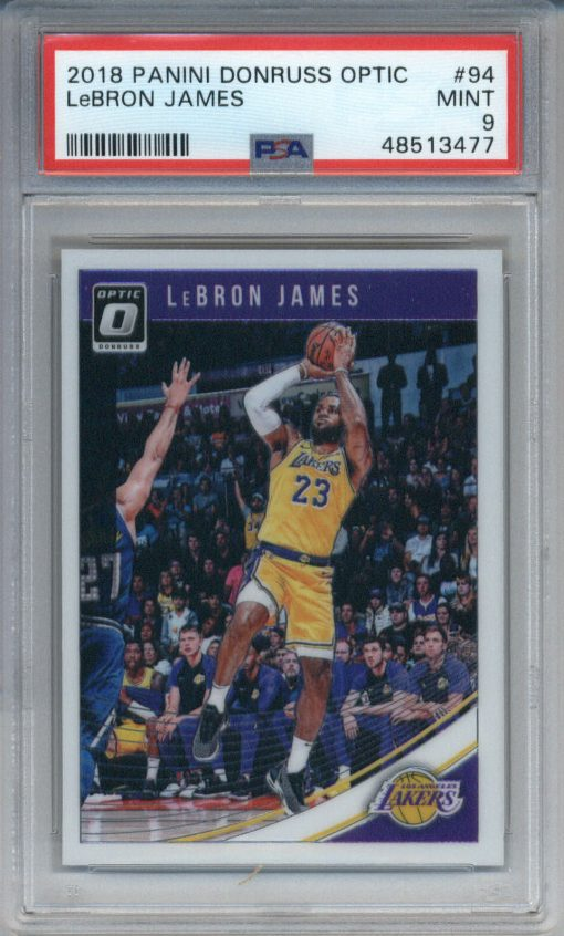 2018 Donruss Optic #94 LeBron James PSA 9