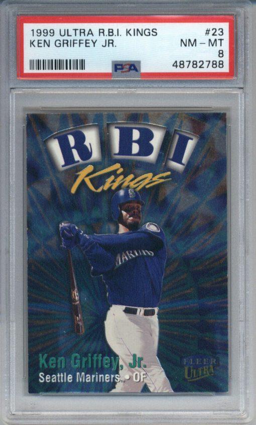 1999 Ultra RBI Kings #23 Ken Griffey Jr. PSA 8