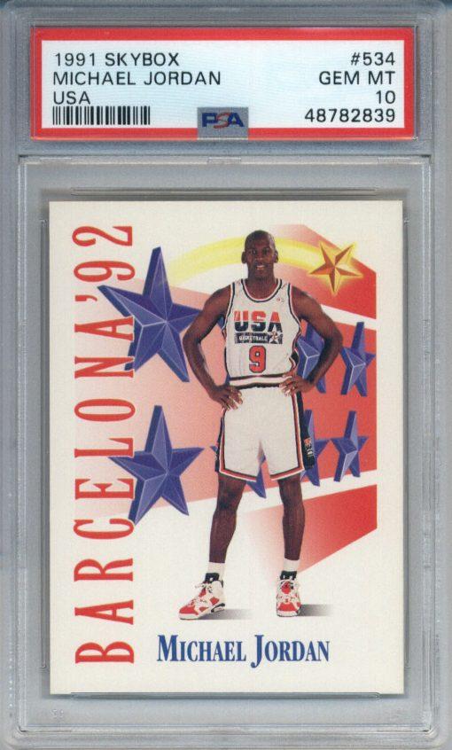 1991 Skybox USA #534 Michael Jordan PSA 10
