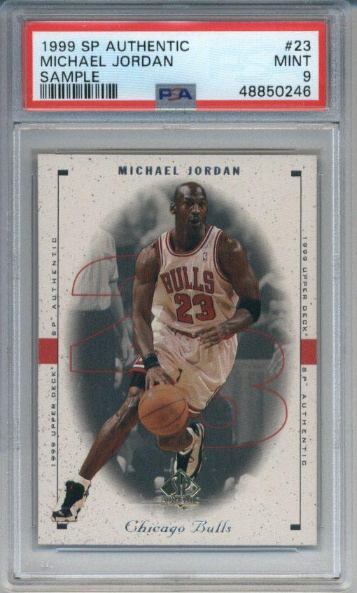 1999 SP Authentic Sample #23 Michael Jordan PSA 9