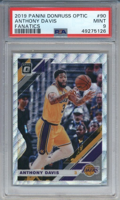 2019-20 Donruss Optic Fanatics #90 Anthony Davis PSA 9