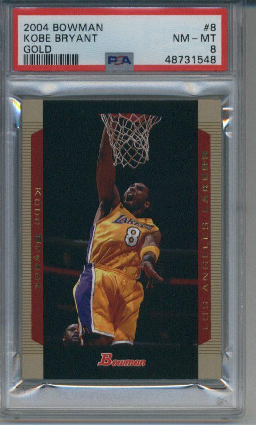 2004-05 Bowman Gold #8 Kobe Bryant PSA 8