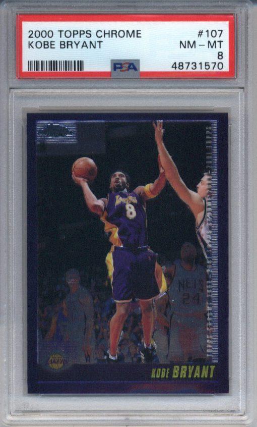 2000-01 Topps Chrome #107 Kobe Bryant PSA 8
