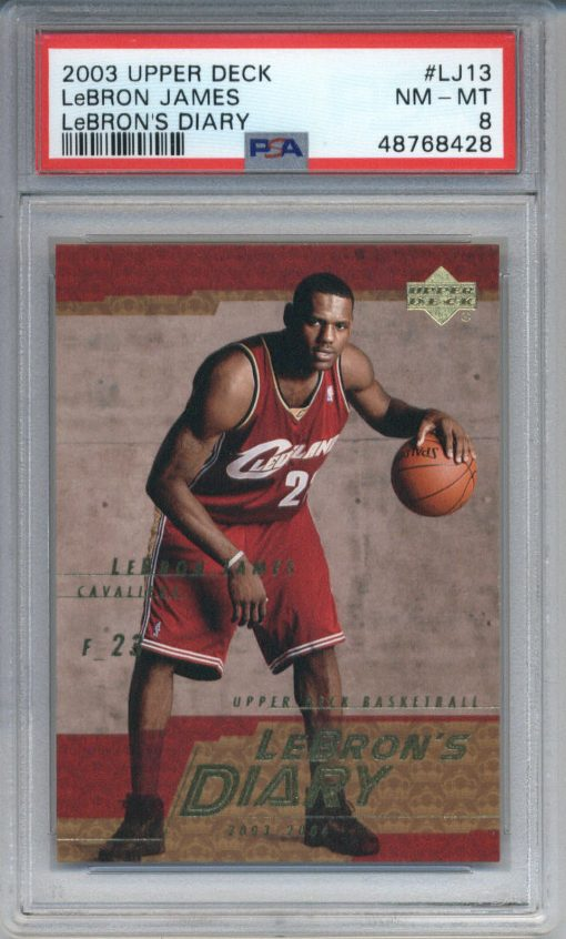 2003-04 Upper Deck LeBron's Diary #LJ13 LeBron James ROOKIE PSA 8