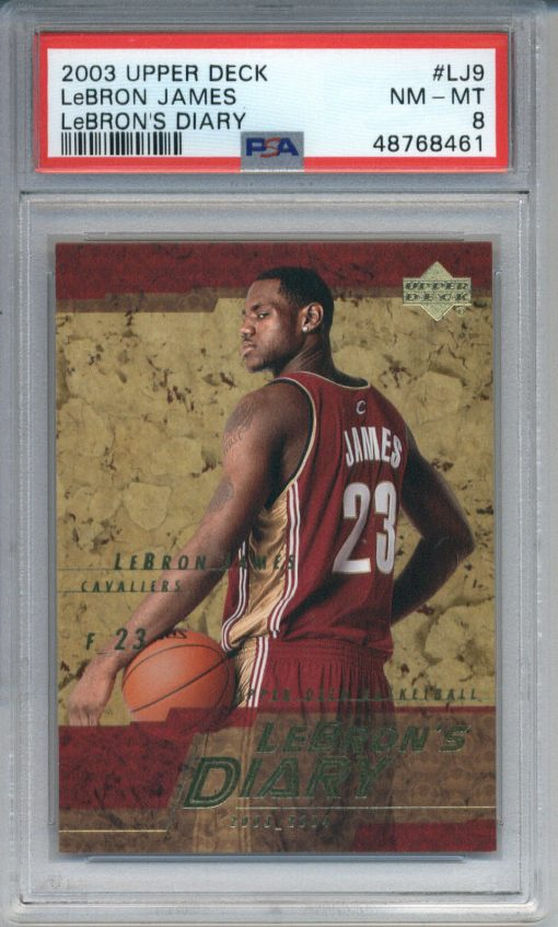 2003-04 Upper Deck LeBron's Diary #LJ9 LeBron James ROOKIE PSA 8