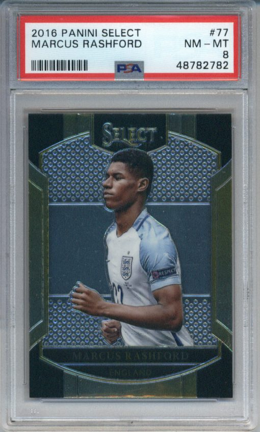 2016-17 Panini Select #77 Marcus Rashford Rookie PSA 8